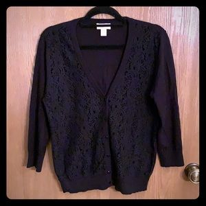 Lovely lace front cardigan!